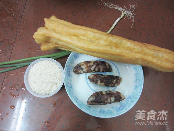 腊肠油条香米粥的做法大全