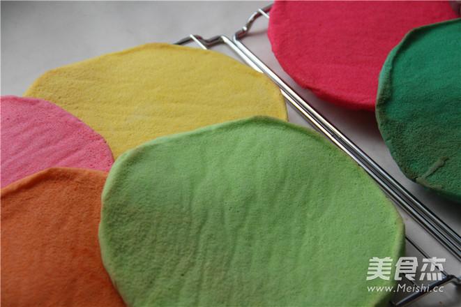 七色绚丽 梦幻の约—彩虹蛋糕怎么吃