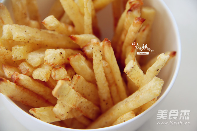周末小乐趣——烤薯条成品图