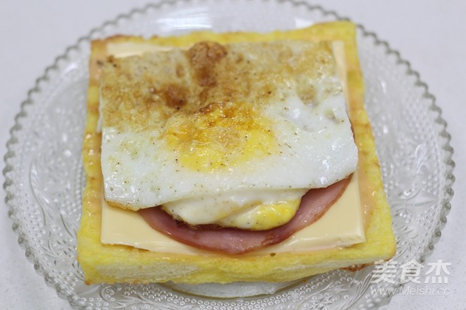 10分钟的快手早餐——芝士火腿三明治怎样做