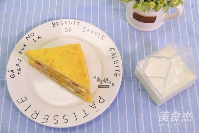 10分钟的快手早餐——芝士火腿三明治怎样炖