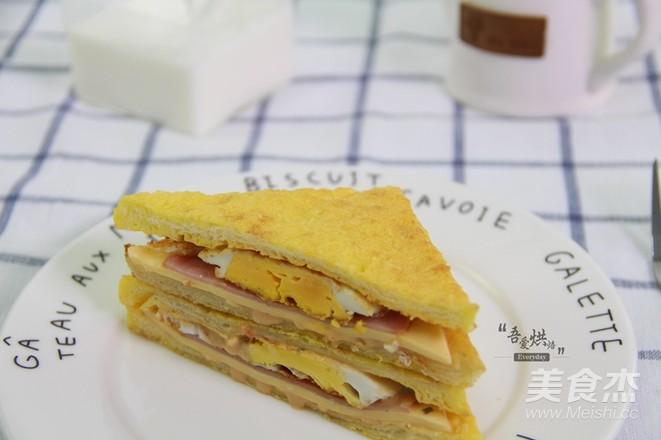 10分钟的快手早餐——芝士火腿三明治的制作