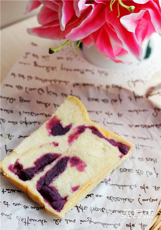 紫薯蛋奶吐司怎样煸