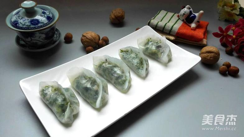 素水晶饺成品图