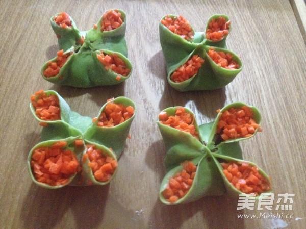 四喜饺子的包法成品图