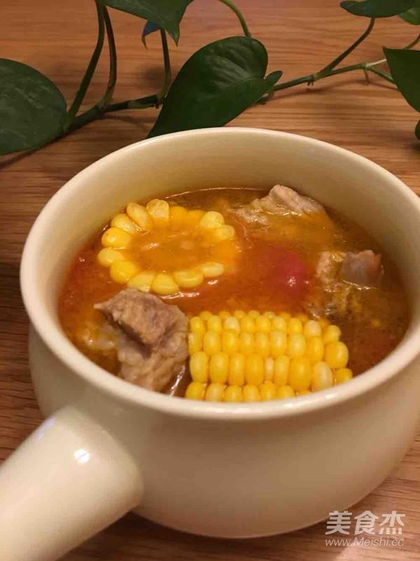 番茄玉米排骨汤怎么做