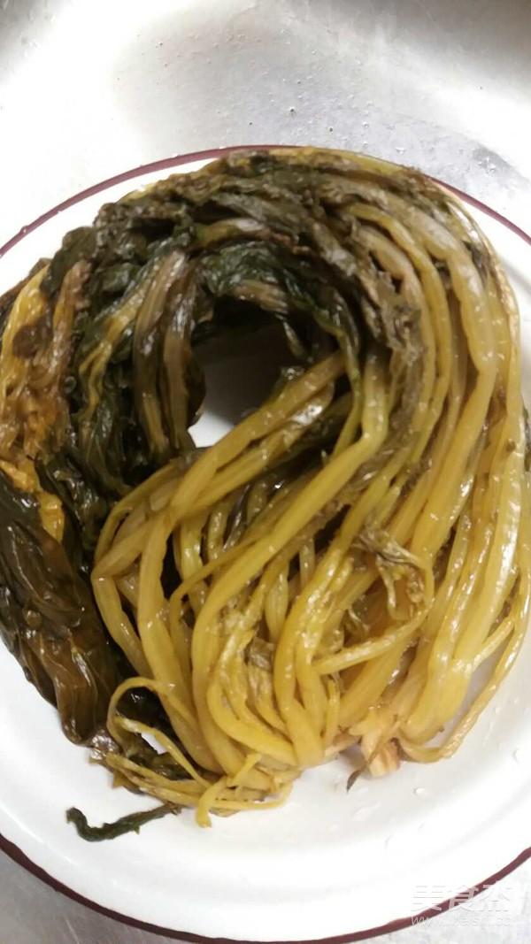 竹笋烤咸菜的简单做法