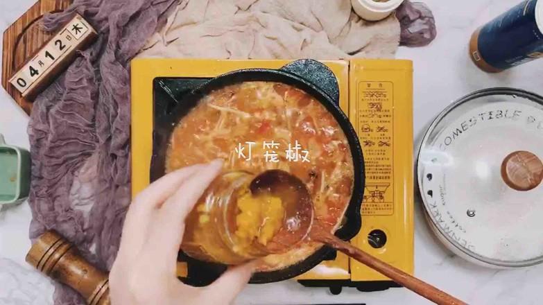 虾仁番茄豆腐汤怎样煸