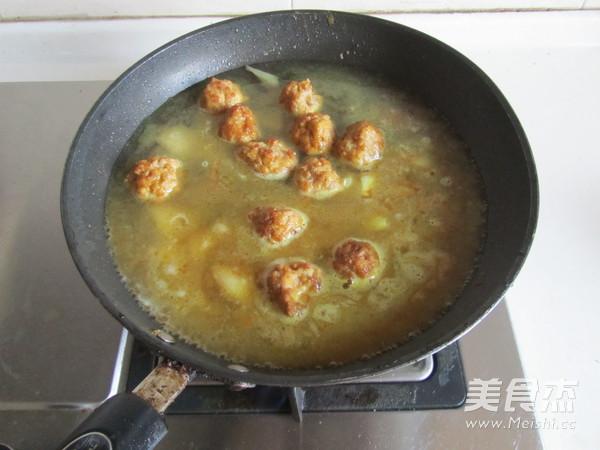 咖喱丸子粉丝煲怎么吃