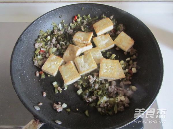 雪菜肉末烧豆腐怎么做