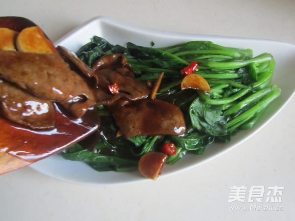 蚝油猪肝菠菜怎样做
