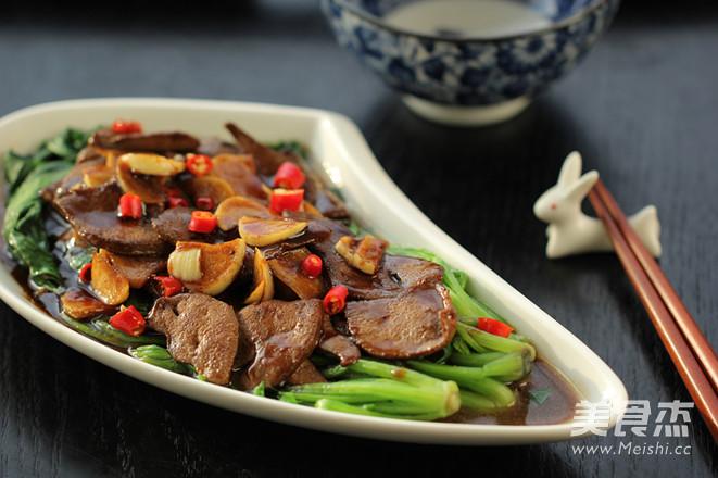 蚝油猪肝菠菜怎样炒