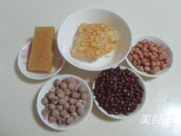 红豆花生莲子银耳汤的做法大全