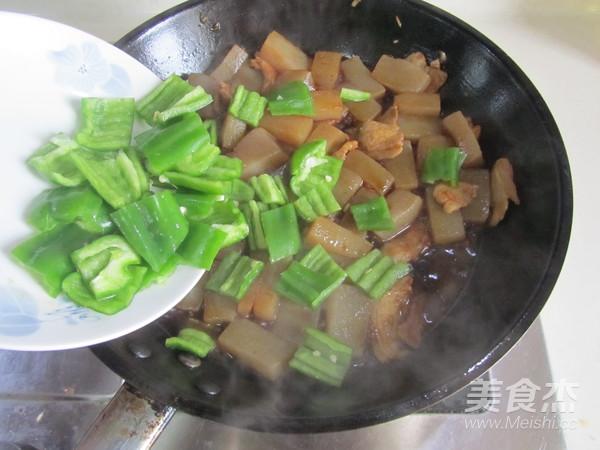 青椒魔芋肉片怎么炒