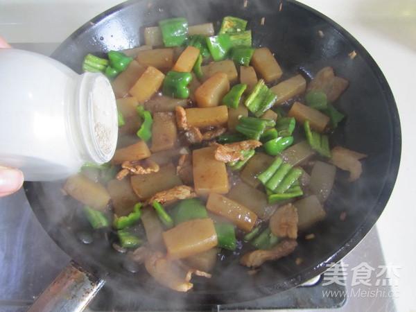 青椒魔芋肉片怎么煮
