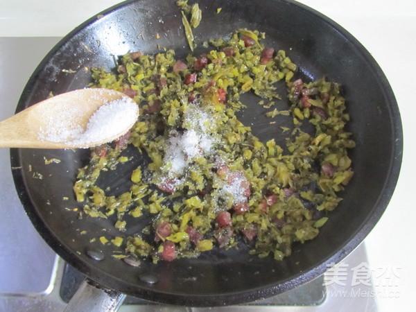 香肠雪菜炒蚕豆米怎么吃