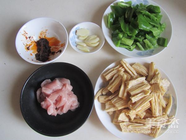 青椒腐竹炒肉片的做法大全