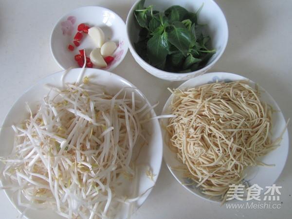 荆芥豆芽拌干丝的做法大全