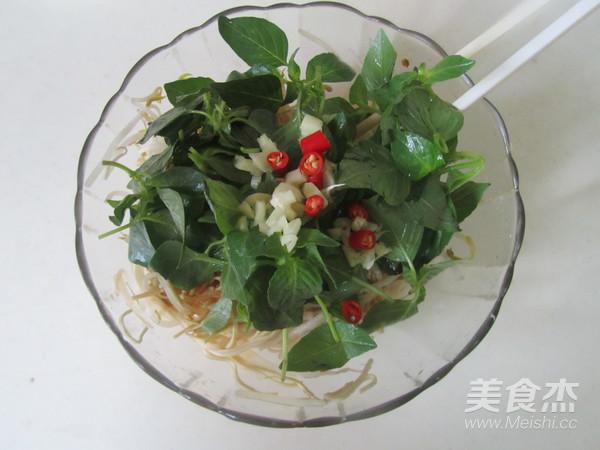 荆芥豆芽拌干丝怎么做