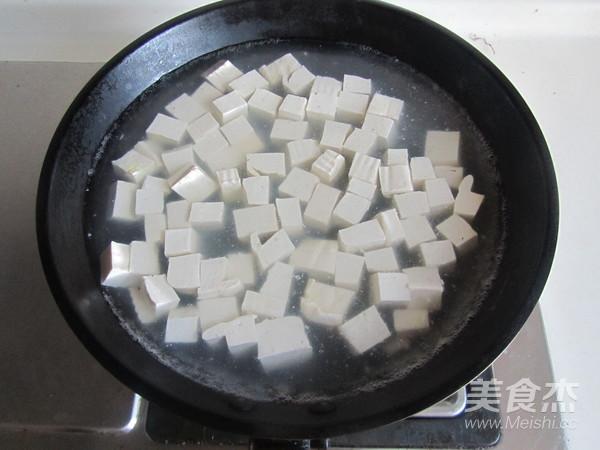 毛豆米双色豆腐的家常做法