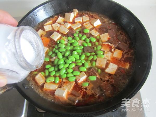 毛豆米双色豆腐怎么煮