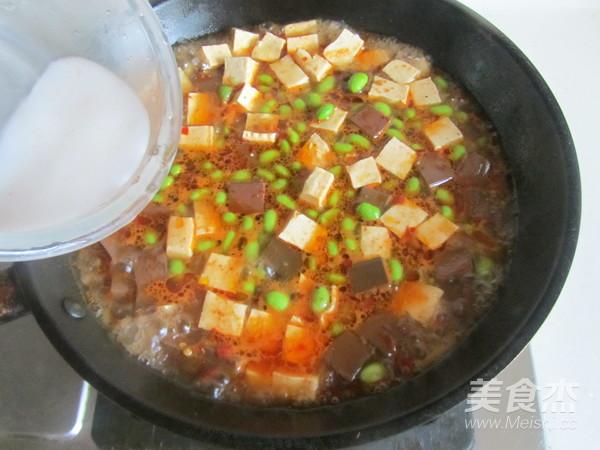 毛豆米双色豆腐怎么炖