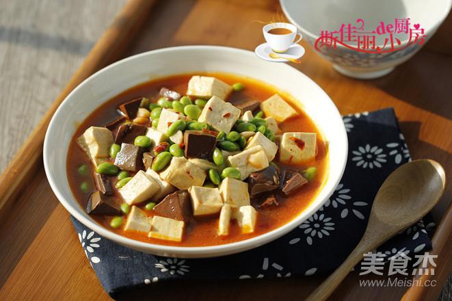 毛豆米双色豆腐怎么煸