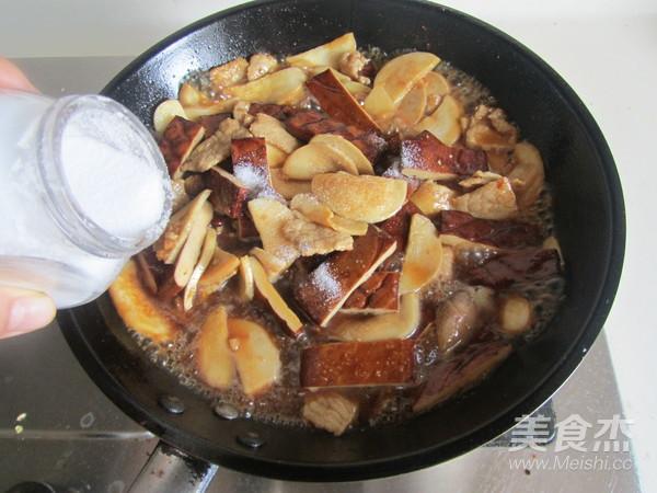 杏鲍菇干子炒肉片怎么煮