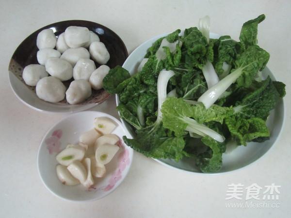 鱼丸炒小白菜的做法大全