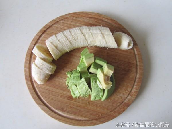 牛油果香蕉奶昔的做法图解