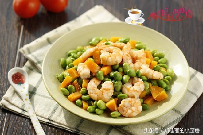 豆米南瓜炒虾仁怎么煮