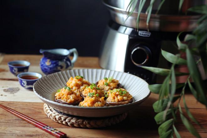 香菇蒸虾盏成品图