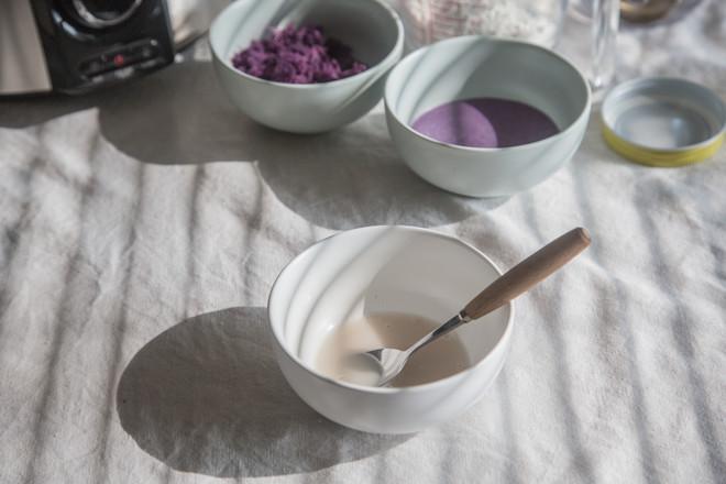 紫薯玫瑰馒头的简单做法