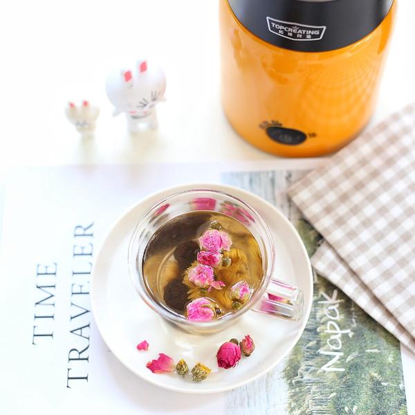玫瑰乌梅菊花茶的简单做法