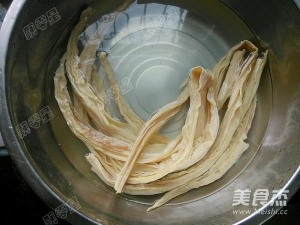 花菜肉片炖腐竹的做法大全