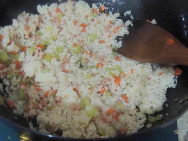 三丁炒饭怎么做