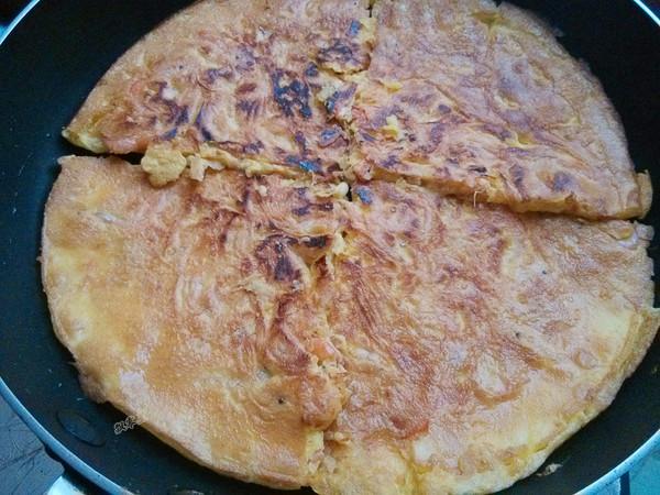 河虾鸡蛋饼怎么炒