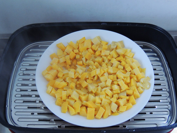 豆沙红薯饼的简单做法