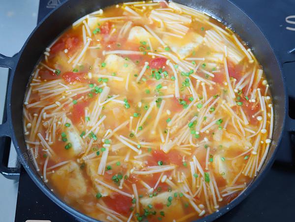 番茄金针豆腐的制作方法