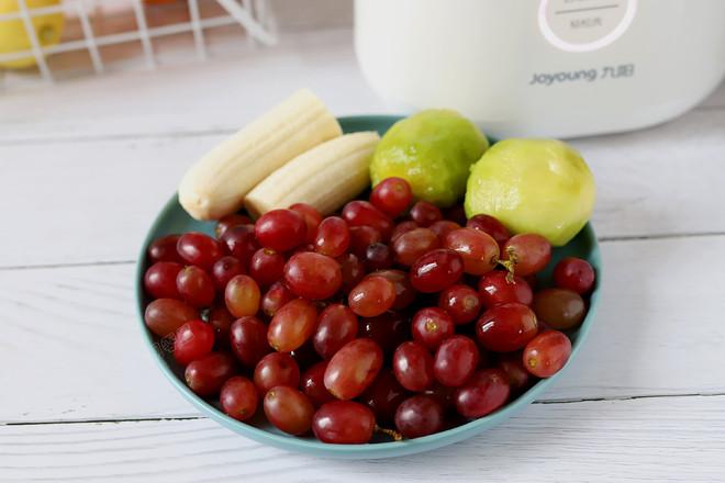 香蕉葡萄猕猴桃汁的做法图解