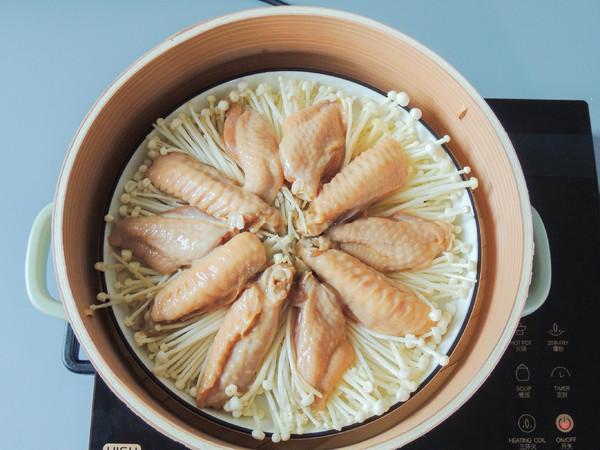 金针菇蒸鸡翅的简单做法