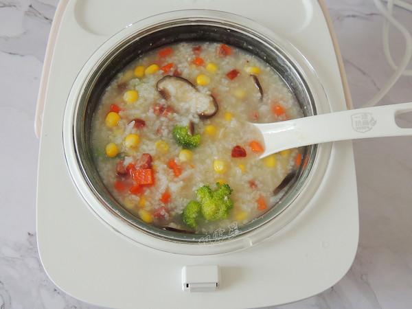 什锦火腿蔬菜粥怎么炒