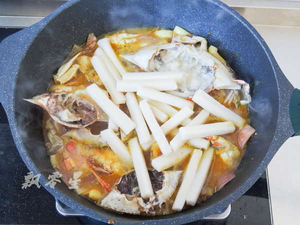 梭子蟹和咖喱碰撞出的美味,简单零失败怎么煸