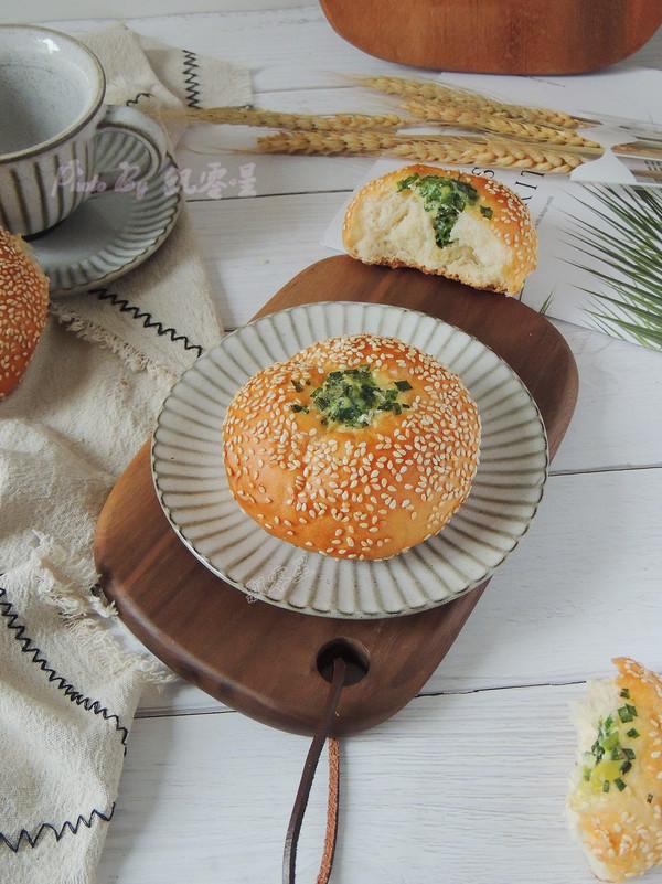 芝麻葱花面包成品图