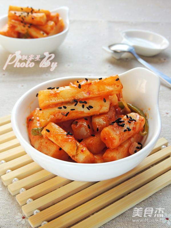 韩式泡菜炒年糕怎样做