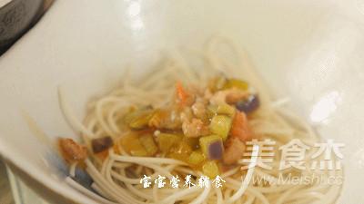 茄丁打卤面的制作方法