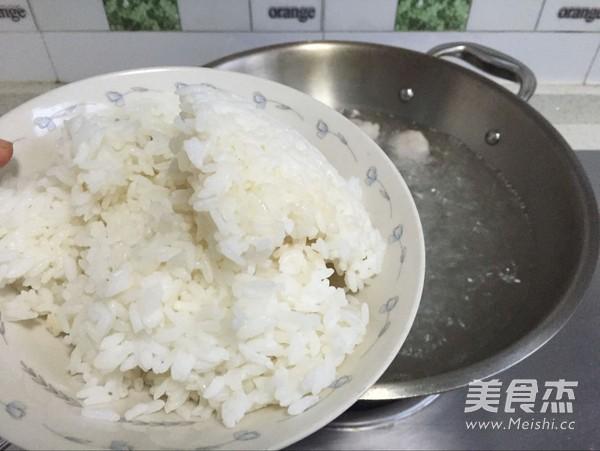 虾丸青菜汤饭的家常做法