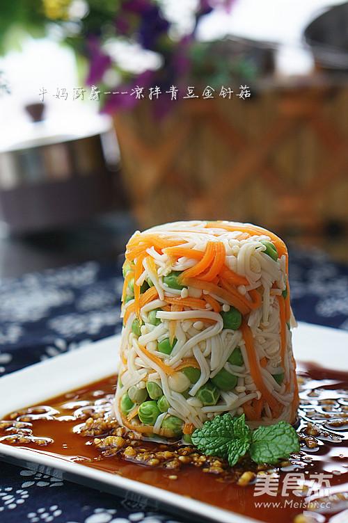 凉拌青豆金针菇怎么做