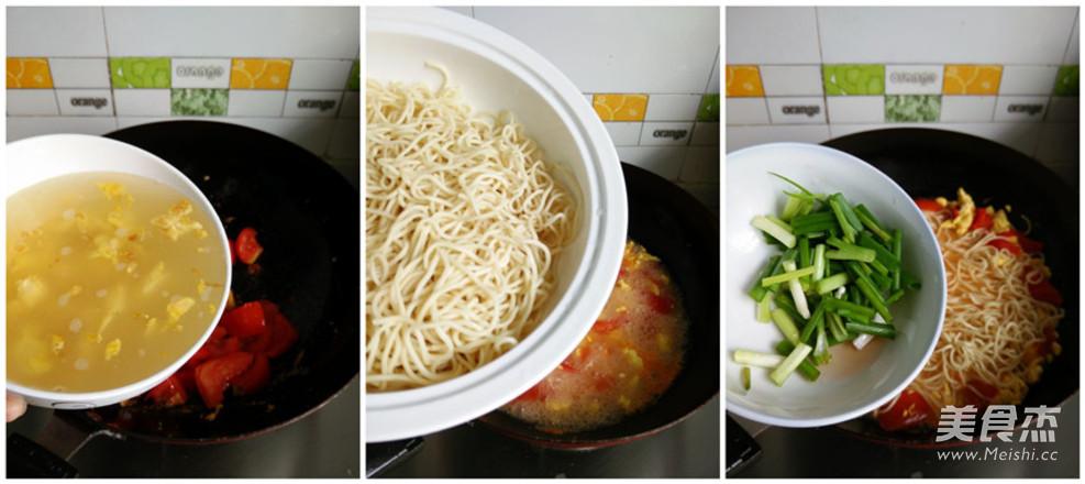 番茄鸡蛋汤面的做法图解