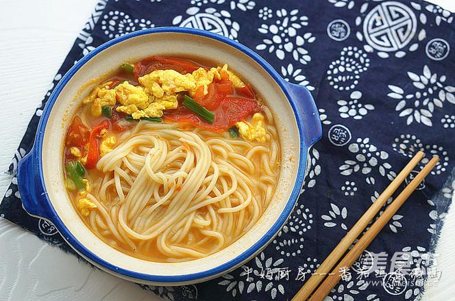 番茄鸡蛋汤面的家常做法